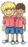 Friendship. Cartoon illustration of friend relationship Stock Photo