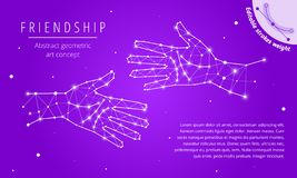 The friendship abstract geometric art concept stock images