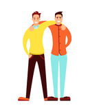 Friendship of adult men Stock Photography