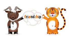 Friendship between animals Royalty Free Stock Photography