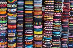 Friendship band loom bracelets Stock Photos
