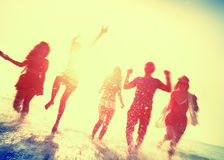 Friendship Beach Summer Splash Holiday Concept Royalty Free Stock Photos