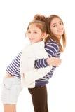 Friendship, best friends. Friendship, happy smiling playful best friends Royalty Free Stock Photos