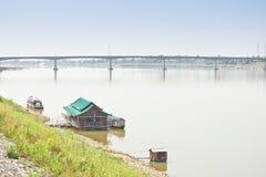 Friendship Bridge, Thailand - Laos, first. Royalty Free Stock Photos