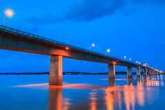 Friendship bridge between Thailand and Laos Stock Photo