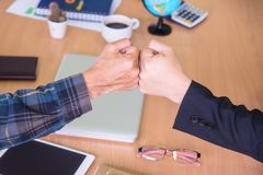 Friendship business with hands together. Royalty Free Stock Photo