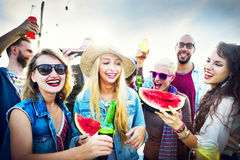 Friendship Celebration Party Beach Summer Concept Stock Photography