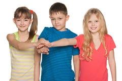 Friendship of children Stock Photos