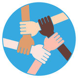 Friendship Circle For Solidarity And Teamwork Stock Photos
