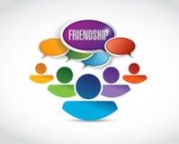 Friendship communication illustration design Royalty Free Stock Photo