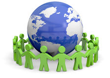 Friendship Concept - 3D. People Around the World 3D Royalty Free Stock Images