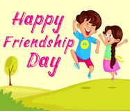 Friendship Day. Background with friends in vector Stock Photography