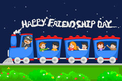Friendship Day background. With friends in vector Stock Images