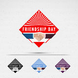 Friendship day badges logos and labels for any use Royalty Free Stock Photo