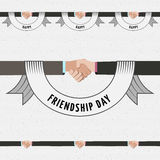 Friendship day borders badges logos and labels for Royalty Free Stock Image