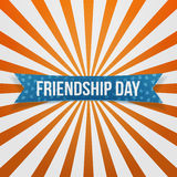 Friendship Day curved festive Banner. Vector Illustration Royalty Free Stock Photography