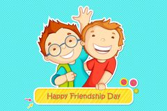 Friendship Day greeting. Vector illustration of boys greeting on friendship day Stock Images