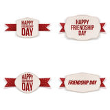 Friendship Day greeting Banners Set Royalty Free Stock Photos