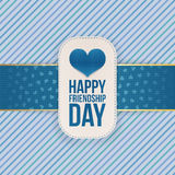 Friendship Day greeting Tag with festive Ribbon. Vector Illustration Royalty Free Stock Photography