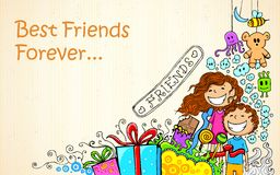 Friendship Day. Illustration of Friendship Day doodle in sketchy look Stock Photo