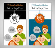 Friendship Day. International holiday. Two template. Flyer, banner or invitation. Royalty Free Stock Photos