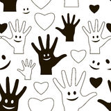 Friendship day pattern Stock Images