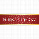 Friendship Day realistic red bend Label Stock Photos