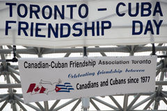 Friendship Day Between Toronto and Cuba. TORONTO,CANADA-AUGUST 23,2014: Toronto celebrates the friendship day between Toronto and Cuba in the Nathan Phillip stock photography