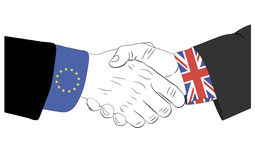 The friendship between Europe Union and United Kingdom Stock Images