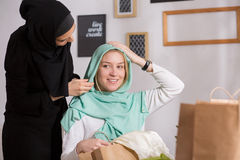 Friendship between european and arabic Royalty Free Stock Photo