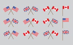 Friendship flags Stock Photo