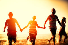 Friendship Freedom Beach Summer Holiday Concept Royalty Free Stock Images