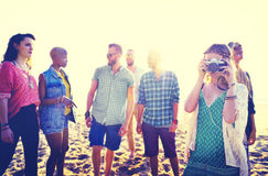 Friendship Freedom Beach Summer Holiday Concept Royalty Free Stock Photos