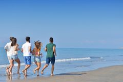 Friendship Freedom Beach Summer Holiday Concept royalty free stock photography