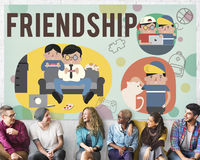 Friendship Friends Relationship Hobby Concept Royalty Free Stock Photo