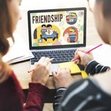 Friendship Friends Relationship Hobby Concept stock image