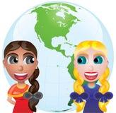 Friendship and globe vector illustration