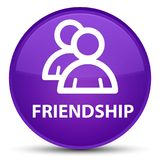 Friendship (group icon) special purple round button Stock Photo