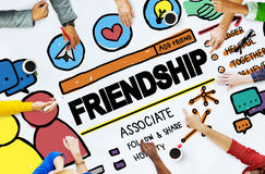 Friendship Group People Social Media Loyalty Concept.  stock images