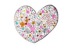 Friendship heart - teenager drawing Royalty Free Stock Photo