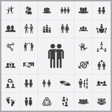 Friendship icons universal set Stock Images