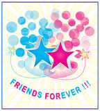 Friendship illustration Stock Photography