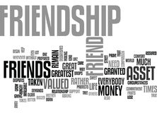 Friendship An Invaluable Asset Text Background Word Cloud Concept Royalty Free Stock Photography