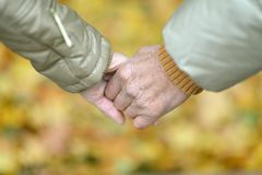 Friendship and love of man and woman Stock Images