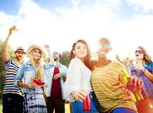 Friendship Party Togetherness Summer Happiness Concept Royalty Free Stock Photo