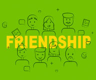 Friendship People Indicates Buddy Friendships And Network. Friendship People Representing Persons Relationships And Friendships royalty free illustration