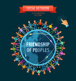 Friendship of peoples vector logo design template Stock Photo