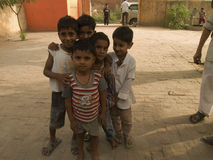 Friendship. This picture was taken in a small village in Uttar Pradesh, India Royalty Free Stock Images