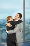 Friendship and pleasure on work Stock Photo