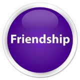 Friendship premium purple round button. Friendship isolated on premium purple round button abstract illustration Royalty Free Stock Photography